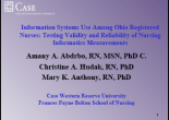 FEATURED ABSTRACT & PRESENTATION  Vol 1 No 2 2006  Amany Abdrbo Christine A. Hudak Mary K. Anthony