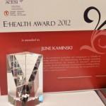 Nursing Faculty E-Health Award 2012