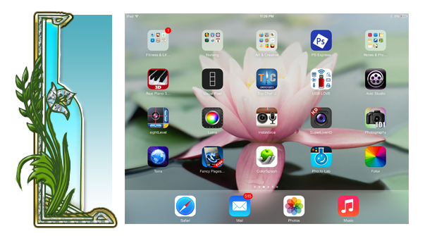 Figure 5: Herbaceous Layer of a Food Forest Garden and the corresponding iPad and apps technology layer